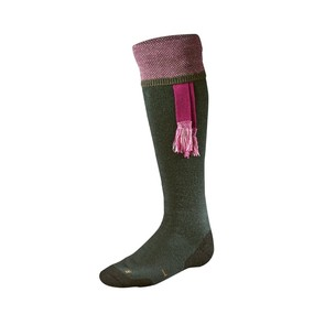 Носки мужские Harkila Sporting Estate sock, Bottle green/Pink (17010333305)